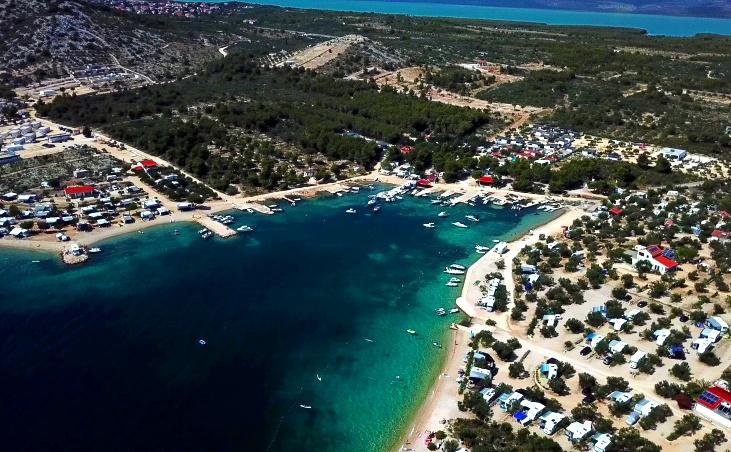 Camping in Drage, Pakostane, Kroatien